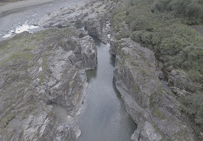吉野川の開削跡