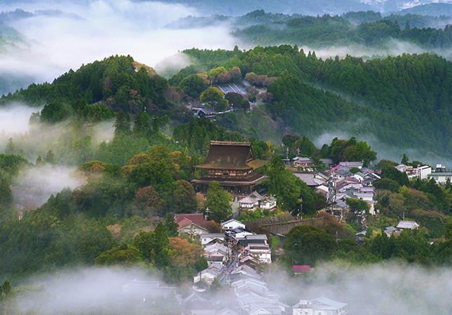 吉野山の街並み